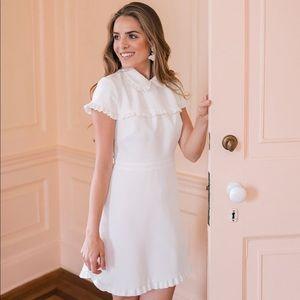 Emma Dream Ruffle Crepe Dress NWT